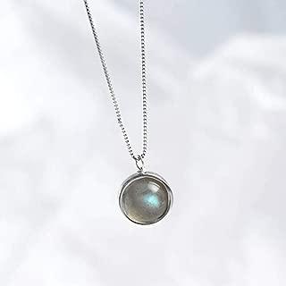 Cuir Noir collier tour de cou Lune Croissant avec verre Cameo Charms Pendentif