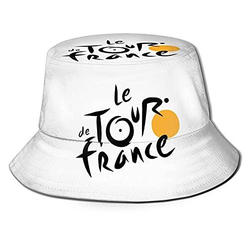 KINGAM 2016 Le Tour de Francia Logo Bucket Sombreros Plegable Playa Sol Sombreros Pescador Sombreros Al Aire Libre Verano Deporte Cap para Mujeres Hombres Negro