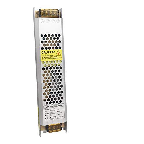VARICART IP20 24V 6.25A 150W LED Treiber, Ultra Schmal Universal Reguliertes AC DC Schaltnetzteil, Konstanter Spannungswandler Adapter für CCTV Kamera Neonlampe G4 MR16 GU5.3 Glühbirne (1-er Packung)