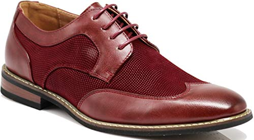 Titan01 Men's Spectator Tweed Plaid Two Tone Wingtips Oxfords Perforated...