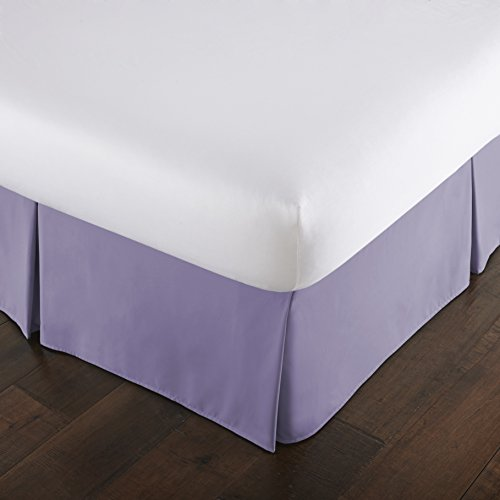 Southshore Fine Linens - VILANO Springs - 15 inch Drop Pleated Bed Skirt, Lavender, Queen