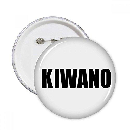 DIYthinker Regalo botón Kiwano fruta Nombre alimentos pernos redondos Placa Ropa decoración 5pcs Multicolor XXL