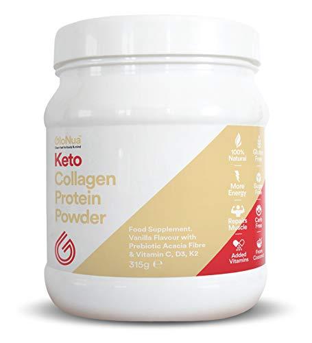GoNutro Collagen Protein Powder, GoKeto MCT Powder, Keto Shake, Zero Carbs, Acacia prebiotic, Healthy Skin, Wrinkles, Nails, Bones, Gut, Muscle & Joint Recovery - Vanilla Flavour