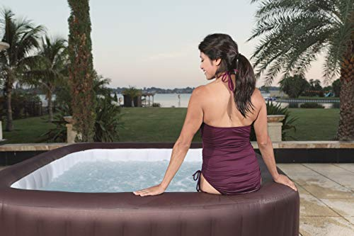 Lay-Z-Spa Maldives Luxury Hot Tub, 8 HydroJet Pro Massage System Inflatable Spa with LED Lights, Foot Massager and Rapid Heating, 5-7 Person