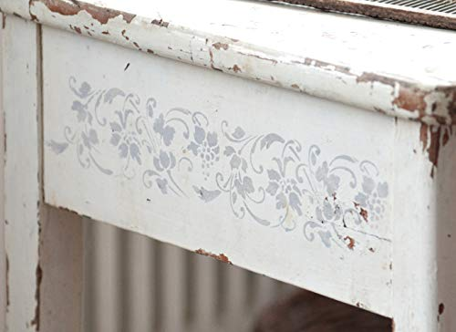 Jeanne d' Arc Living Schablone Stencil Template 'Grape Vines' Vintage Landhaus Shabby French Nostalgie