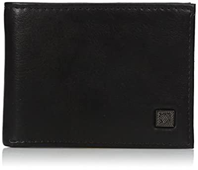 Kenneth Cole REACTION Men's RFID Blocking Security Passcase Wallet, black, One Size