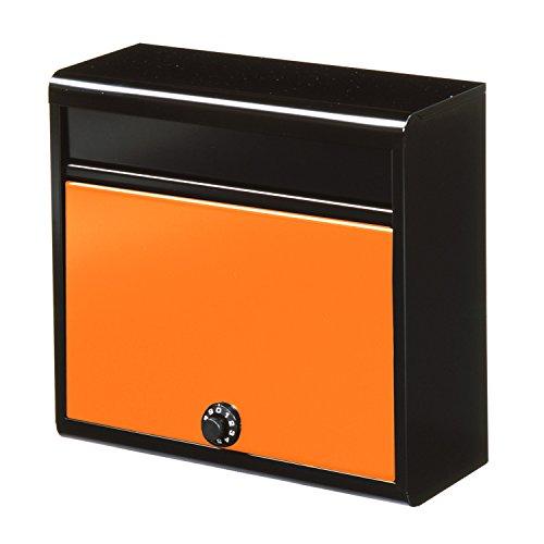 グリーンライフ(GREEN LIFE) 郵便ポスト 薄型スチールポスト ダイヤル錠A4封筒が入る 14.0×35.0×37.0cm FH-614D(MBOR)