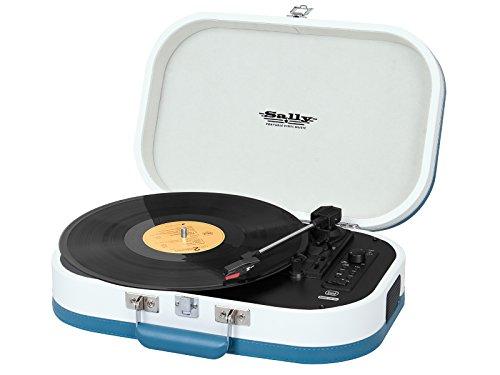 Trevi TT 1020 BT Tourne-Disque stéréo Portable avec Bluetooth, MP3, USB et Fonction Encoding, Turquoise