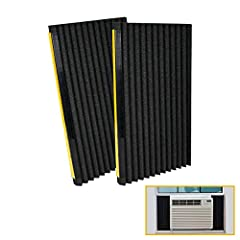 [✔Universal Design]:Air Conditioner Side Insulating Panels design to cover your broken original panel or work as replacement,these Panels fit most of window units, 5000 - 22000 btu [✔Keep House Comfortable]:Work like a window seal,seal out dust, poll...