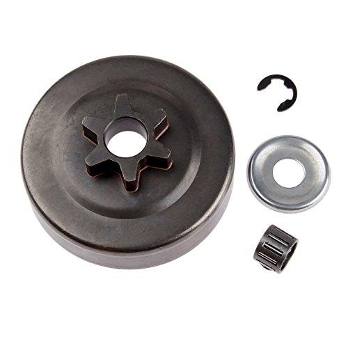 Hicello Kupplung Trommel Kettenrad 3/8 6T Unterlegscheibe E-Clip für STIHL MS170 MS180 017 018 025