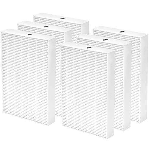 LINNIW HPA300 True HEPA Filter R Compatible with Honeywell HPA300 Replacement Filters - Honeywell R Filter 6 Pack for Honeywell HRF-R1 HRF-R2 HRF-R3 Air Purifier , Filter R (6 Pack)