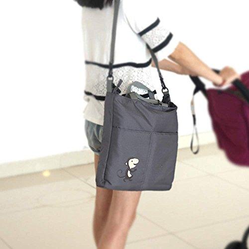 Organizer per passeggino, aresko Pram Buggy pannolino tasche organizer impermeabile multifunzione bottiglia di latte stoccaggio borse per pannolini e altri oggetti