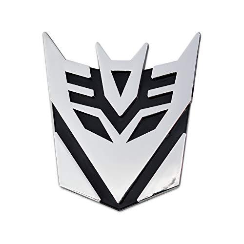 Transformer Decepticon Auto Emblem - [Chrome][3'' Tall]