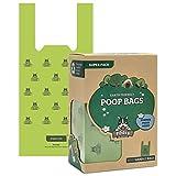 Sacchettini per pupù Pogi - 300 sacchettini per pupù con Manici Facili da Annodare - Grandi, biodegradabili, profumati, sacchettini per pupù a Tenuta Perfetta