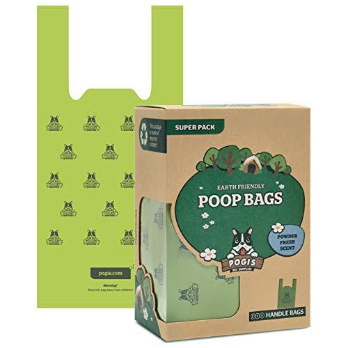 Pogi's Hundekotbeutel - 300 Tüten mit Verschlussträgern - große, biologisch abbaubare, parfümierte, tropfsichere Hundetüten