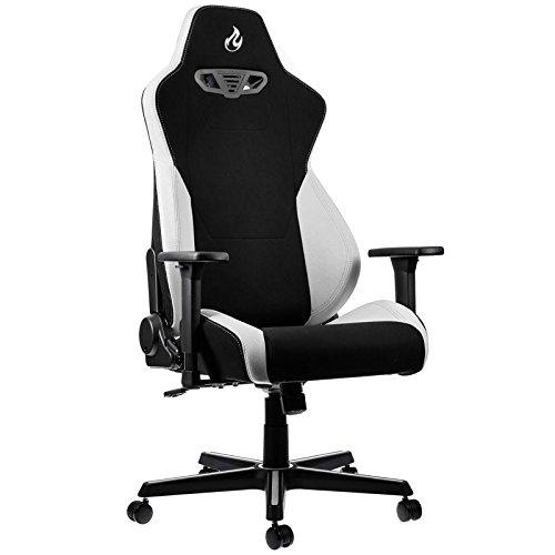 OVERCLOCKERS Nitro Concepts S300 - Chair - armrests - T-shaped - swivel - nylon, polyurethane, fabric, steel, col