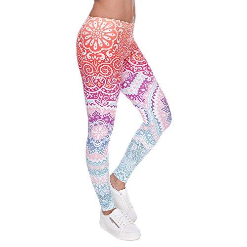 Ndoobiy Women's Printed Leggings Full-Length...