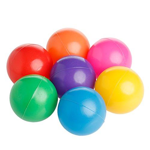 Yinuneronsty - Lote de 50 pelotas de bebé, redondas de plástico flexible, color océano