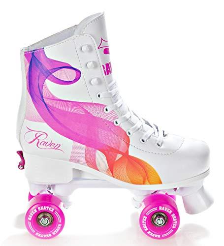 RAVEN Rollschuhe Roller Skates Trista/Serena verstellbar 2019 (Serena Orange/Pink, 35-38(22,5cm-24cm))