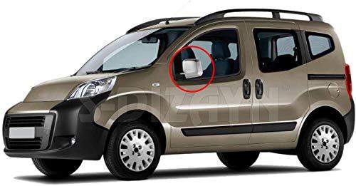 Protector de espejo retrovisor cromado ABS (tracción izquierda) para Bipper/Nemo/Fiorino/Qubo 2008+