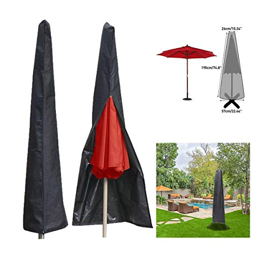 IENPAJNEPQN Waterproof Sun Shelter Patio Umbrella Canopy Rain Cover Shade Protective Sunshade Shed Bag Awing Bags Outdoor
