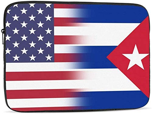 American Connecticut State Flag Laptop Sleeve Bag Compatible with 10-17 Inch Fashion Computer Bag Laptop Case-American Cuba Flag,17inch