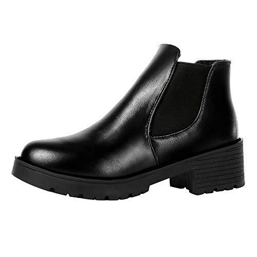 Beladla Mujer Botas Plataforma Muslo Zapatos De Cuero