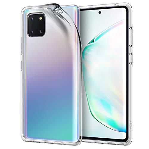 JETech Hülle für Samsung Galaxy Note 10 Lite (2020), Prämie TPU-Material, Stoßfest, HD Klar