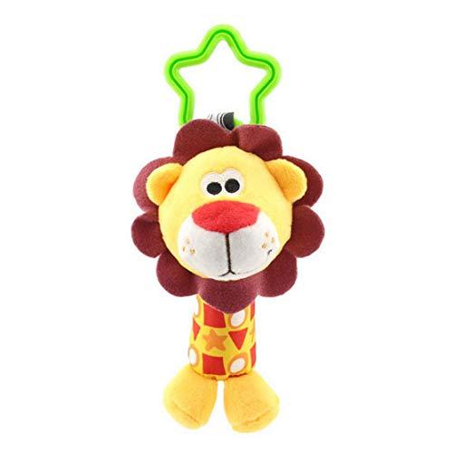 Happy Monkey Poussette Pendentif Confort Jouet 0-1 Voiture lit Suspendu Suspendu Animal Main Grab hochet Chariot Confort Jouet; Coloré Candybobo