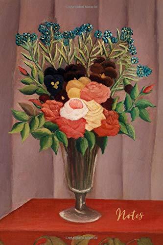 Notes: Flower Bouquet Ranunculus Pansy Blank Journal | Floral Arrangement in Vase Notebook | Vintage Retro Style Art