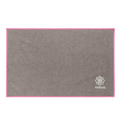 Yamkas Mikrofaser Handtuch • 61x 35 cm • Grau • Schnelltrocknend • Saugfähig Towel • Leicht Tuch • Badehandtücher - Reisehandtücher -...