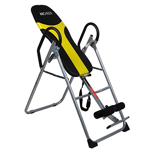 ANCHEER Back Inversion Therapy Table with Padded Backrest Adjustable Folding...