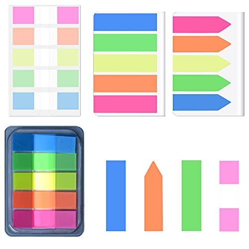 HQdeal 400 unidades de Marcadores Adhesivos Páginas, pequeños post it marcapaginas Escribir para Marcar Hojas Informes Libros