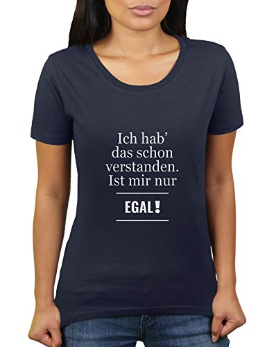 KaterLikoli - Maglietta da donna con scritta in lingua tedesca Navy francese XXXL