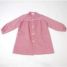 10XDIEZ Bata Escolar con Botones Rojo - Medida Bata Infantil - 8 años (116-128 cm de Altura)