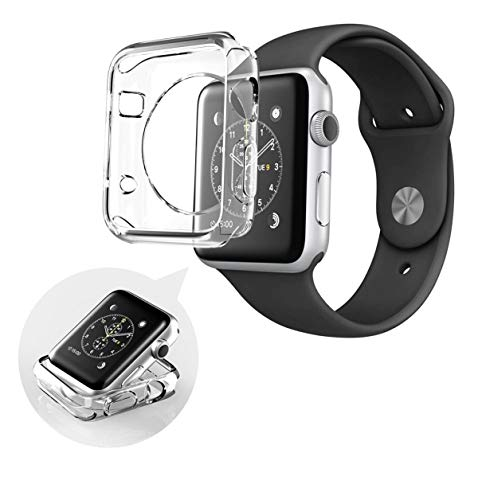 Capa Case Ultra Fina Apple Watch 42mm Silicone TPU Maleável a Prova de Choque