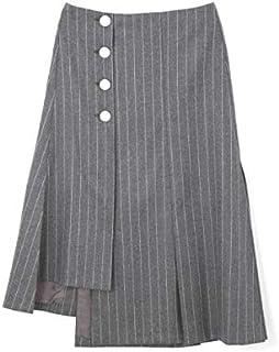 アドーア(ADORE) サキソニーストライプアシメトリーヘムスカート