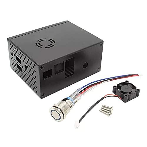DIY Kit-Modul Raspberry Pi X820 V3.0 SSD & HDD SATA-Aufbewahrungsbehörde Matching Metallgehäuse/Gehäuse + Kühlventilator Kit + Leistungssteuerungsschalter Anzeigen Zubehör