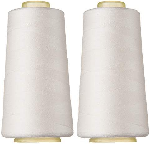 100% Spun Finally popular brand Polyester Sewing Thread 2 Overlock Max 77% OFF of Pack 3000 C Yard