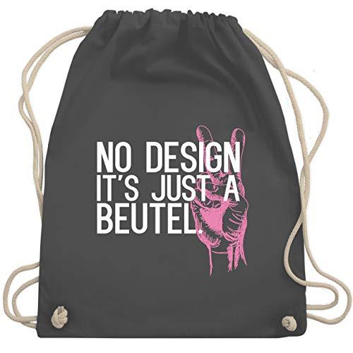 Shirtracer Turnbeutel - No Design it's just a Beutel - Unisize - Dunkelgrau - designer turnbeutel - WM110 - Turnbeutel und Stoffbeutel aus Baumwolle