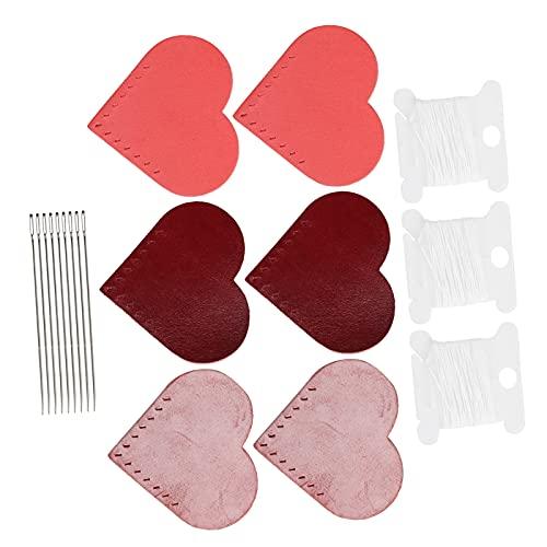 Marcador de cuero con forma de corazón, Retro, elegante, juego de 3 marcadores de libro de lectura, hermoso para marcador para colgante de marcador