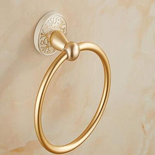 anillo de toalla Toallero de baño Cocina Toallero de oro Soporte para toallero Toallero de pared Anillo-A