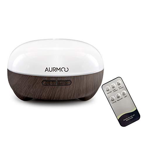 Aroma Diffuser, 500ml Luftbefeuchter Ultraschall Diffusor Aromatherapie, Duftlampen BPA-Frei Humidifier für ätherische öle Raumbefeuchter, Duftlampe mit 7 Farben LED Licht, Fernbedienung und Auto-Off.