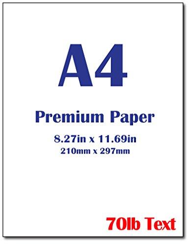 Premium A4 (8.3x 11.7) Printer Paper - 28lb Bond / 70lb Text (105 gsm) Bright White Paper (100 Sheets)