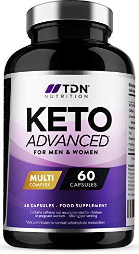 Keto Diet Pills for Men & Women - 1 Month Supply - MCT Oil & Green Tea Plus Vitamins and Minerals - UK Made - Vegan - Contributes to Fatty Acid & Carb Metabolism - Safe & EU Legal Formulation