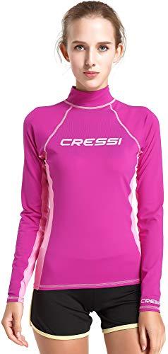 Cressi Rash Guard Lady Long SL Camiseta Mangas Largas, en Tejido Elástico...
