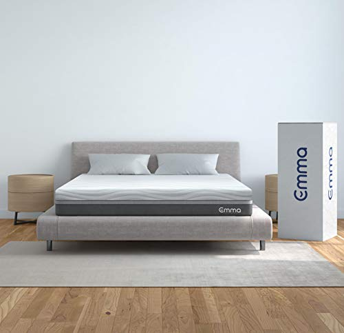 Emma Queen Mattress, 12' Memory Foam Mattress, Medium Firm, 100 Night Trial, 10 Year Warranty