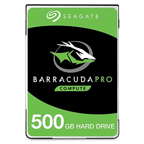 Seagate 500 GB BarraCuda Pro 2.5 Inch Internal Hard Drive (7200 RPM, 128 MB Cache, SATA 6Gb/s, Up to 160 MB/s, Model: ST500LMZ34/LM034)