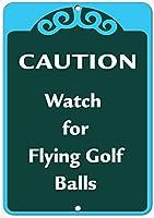 ゴルフボールを飛ばす際の注意事項アクティビティサインゴルフサインアルミメタルサイン