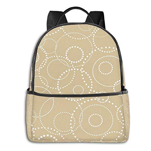 PEIGJH Mochilas Escolares Bolsa Daypack Mochila Tipo Casual para Niños Niñas para Portátiles Netbooks Alfombra con Estilo de círculos de Puntos geométricos